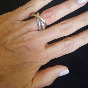 Sterling silver rolling band ring
